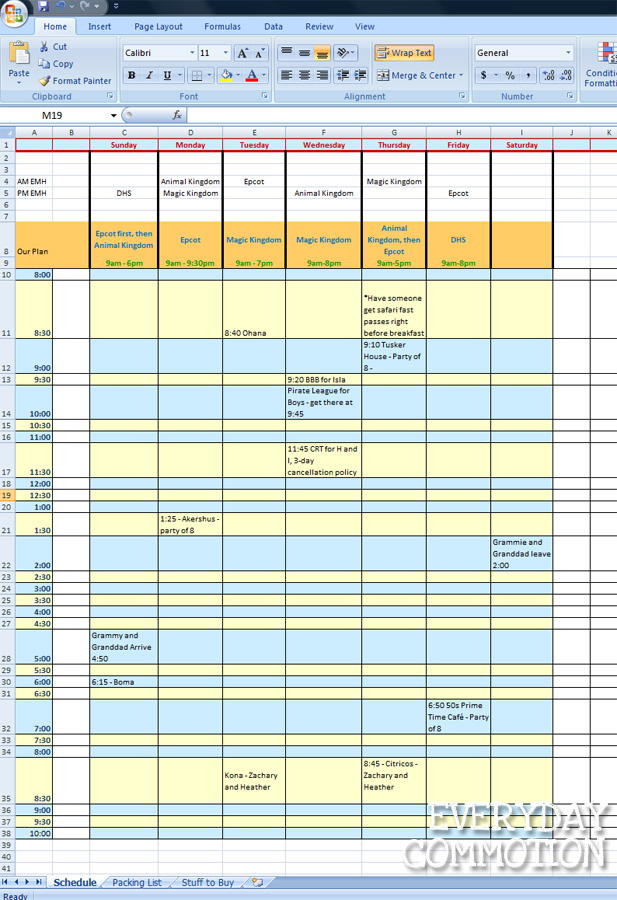 template for travel itinerary word