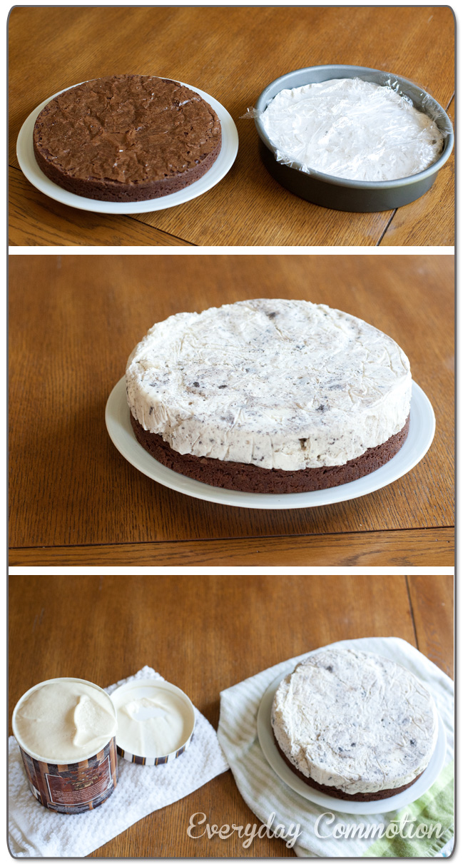 Steps to making a homemade ice cream cake with brownies everyday steps to making a homemade ice cream cake with brownies ccuart Gallery