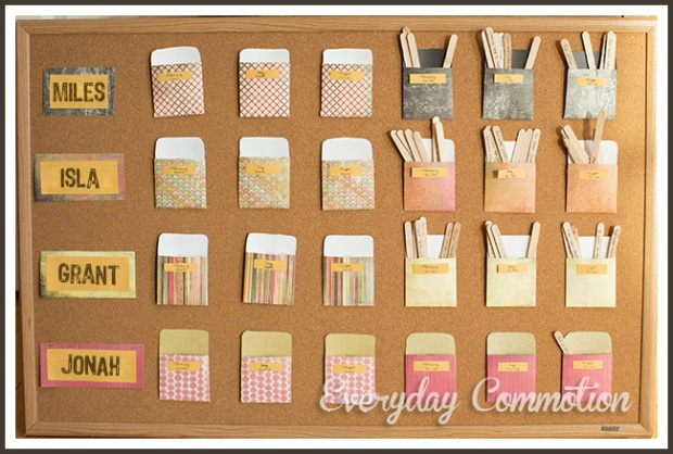 responsibility chore chart for kids children morning library cards popsicle sticks